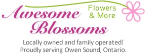 Florist in Owen Sound, Ontario Flowers Logo Image