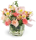 Pink Roses, Alstroemeria, and Carnations