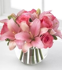 Pink Roses and Asiatic Lilies