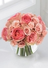 pink roses and spray roses