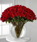 100 stems of 24-inch premium long-stemmed red roses