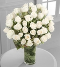 48 stems of 24-inch premium long-stemmed white roses