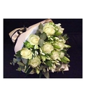 All White Wrapped Bouquet