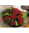 Exotic Red Rose Wrapped Bouquet