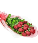 Wrapped Long-Stemmed Red Roses