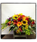 Sunflower Sympathy Casket Spray