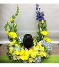 Springtime blooms Urn Arrangement