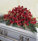 The FTD® Red Splendor™ Casket Spray