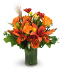 Lilies, Roses, Safflower, and Mums