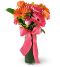 Gerbera Daisies, Roses, and Carnations