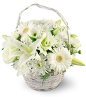 White Lilies, Gerbera Daisies, and Lisianthus