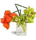 Sunshine Tulip-Orchid Bouquet™
