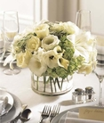 The FTD® White Linen™ Centerpiece