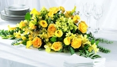 The FTD® Golden Garden™ Centerpiece