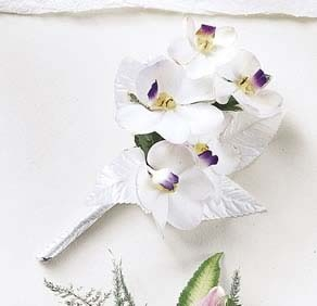The FTD® White on White™ Corsage