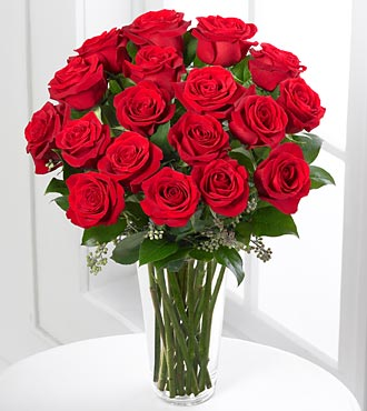 The FTD® Red Rose Bouquet - 18 stems